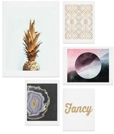 Main Image - Deny Designs Fancy Five-Piece Gallery Wall Art Print Set Canvas Wall Art, Wall Art Prints, Nordstrom Anniversary Sale, Home Wall Decor, Room Decor, Wall Art Sets, Pictures To Paint, Decoration, Framed Art