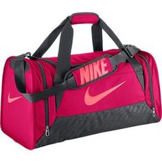 The perfect bag to keep all your gear close when you need it! DURABLE STORAGE AND PROTECTION. The Nike Brasilia 6 (Medium) Duffel Bag is made from ultra-durable fabric and has plenty of pockets to kee Nike Duffle Bag, Duffel Bags, Messenger Bags, Mochila Nike, Mens Gym Bag, Nike Bags, Gym Bags, Best Gym, Medium Bags