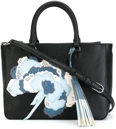 Tory Burch 'Robinson' floral appliqué tote