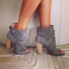 open toe slouch ankle boots
