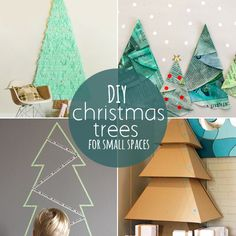 10 DIY Christmas trees perfect for small spaces (or small budgets!) Great for college! Christmas Room, Diy Christmas Tree, All Things Christmas, Winter Christmas, Christmas Decorations, Xmas Trees, Christmas Ideas, Christmas Ornaments, Diy Natal