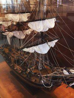 Model of 20 gun American Revolutionary War corvette the U.S. Oliver Cromwell built in Connecticut in 1776 later captured and renamed HMS Restoration by mharrsch, via Flickr