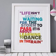 'Dance In The Rain' Print - last-minute christmas gifts for her
