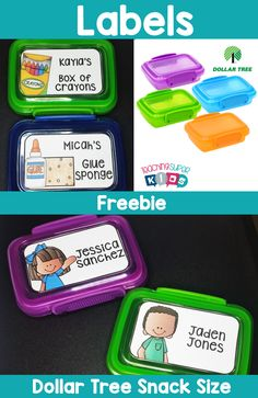 Are you looking for some editable labels for the dollar tree snack size containers? This set of editable labels can be used for many different classroom needs.