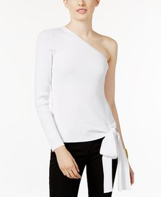 INC International Concepts One-Shoulder Bow-Detail Top, Only at Macy's http://fave.co/2rALFjZ