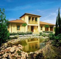 Toskanische Villa von ISARTALER HOLZHAUS Wohnfläche gesamt 180,49 ...