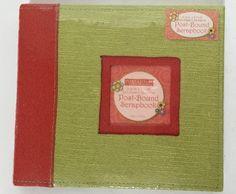 New Portafolia Gifted Memories Cloth Red Snd Oive Green 8x8 Post Bound Scrapbook #PortafoliaGiftedMemories