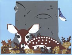 Fawn together (detail), by Charley Harper