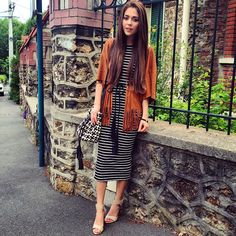 Take a look at the best modest dresses winter in the photos below and get ideas for your own outfits! Modest Wear, Modest Dresses, Modest Outfits, Cute Dresses, Dress Outfits, Fall Outfits, Cute Outfits, Fashion Outfits, Striped Dress Outfit