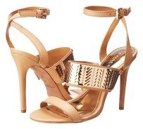 Coach Gold/Nude Sandals