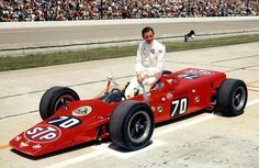 1968 Indianapolis 500 - GRAHAM HILL, Lotus 56 #70, Grid 2, Rank 2, Qualified at the 4th lap with Speed Qual 171.208, Retired (crash, 110 lap). (ph: © IMS)