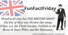#FunFactFriday bei THE BRITISH SHOP: Wussten Sie, dass die Isle of Skye Drehort für diverse Filme war, u.a. für Flash Gordon (1980), Made of Honour/Verliebt in die Braut(2008) und Snow White and the Huntsman (2012)?