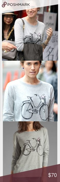 Joie Eloisa bicycle sweater Allison Williams looked majorly adorable in this Joie bicycle sweater, while on the set of Girls in NYC, why don't you pair it with favorite jeans and flats for an impossibly cute weekend look. Joie Sweaters