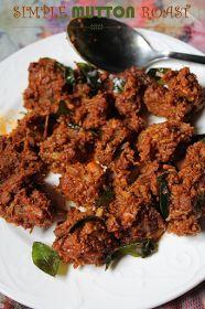 YUMMY TUMMY: Simple Mutton Roast Recipe / Kerahow to make simple mutton roast la Mutton Roast Recipe Goat Recipes, Veg Recipes, Curry Recipes, Indian Food Recipes, Asian Recipes, Chicken Recipes, Cooking Recipes, Indian Snacks, Kerala Recipes