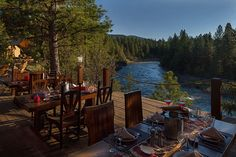 Glamping at Cliffside Camp on the banks of The Blackfoot River