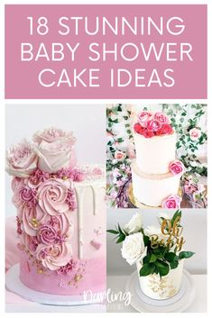 The prettiest Baby Shower cakes for girls from the most talented bakers all over the world. Get inspired with these stunning Baby Girl cakes. #babyshowercakes #girlbabyshowercakes #babyshowercakeforgirls #babyshowercakeideas #prettybabyshowercakes Baby Shower Advice, Baby Girl Shower Themes, Baby Shower Decorations, Shower Ideas, Shower Party, Baby Shower Parties, Amazing Baby Shower Cakes, Baby Girl Cakes, Baby Shower Fall
