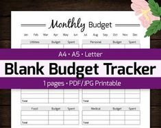 Monthly Budget Planner Printable, Finance Money Tracker, Spending Expense Tracker, Personal Home Organizer, Home Management PDF Planner Monthly Budget Planner, Printable Planner, Printables, Monthly Expenses, Budget Spreadsheet, Health Planner, Fitness Planner, Fitness Journal, Planning Budget
