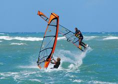 Wind surfing in Cabarete, Dominican Republic. This is right in our back yard!