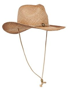 e8ec25092bf Best Seller MG Tea Stained Raffia Straw Cowboy Hat online