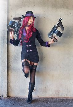 Juby Headshot - Mafia Miss Fortune Cosplay - League of Legends