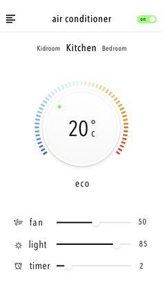 Smart Home Control Center App - by Zhu Sheng | #ui #ios