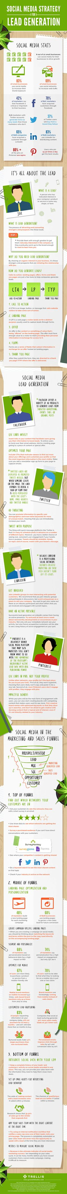 Social Media Strategy for Lead Generation - Infographics - Website Magazine