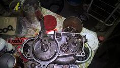cigueñal y caja de velocidades (dos marchas) del motor sachs 98cc