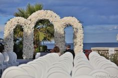 Floral Arch designed by Roni Fleurs