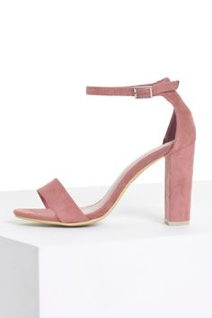 ad2fd2dbb72 Molly Block Heel Sandals in Blush Suede