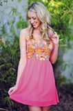 Brought Me Flowers Dress: Neon Pink $45.99