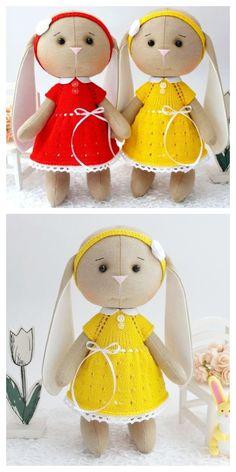 Sewing Patterns Free, Free Sewing, Doll Patterns, Pattern Sewing, Sewing Stuffed Animals, Stuffed Animal Patterns, Handmade Felt, Handmade Crafts, Diy Crafts Videos
