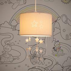 Lampada a sospensione non elettrificata beige in tessuto D 30 cm Baby Girl Quilts, Baby Boy Rooms, Baby Room, Boys Room Colors, Baby Dress Tutorials, Nursery Frames, Fabric Ceiling, Boy Decor, Beige