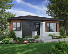 W3280 - Affordable Ranch bungalow with home office, open floor plan ...