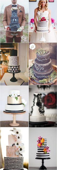 black and white wedding cakes- black and white wedding ideas