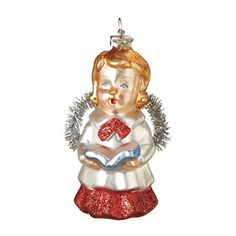 Beautiful Glass Angel Christmas Ornament. #Christmas #NewYear #Ornament #Decor #giftidea #Gift #gosstudio .★ We recommend Gift Shop: http://www.zazzle.com/vintagestylestudio ★