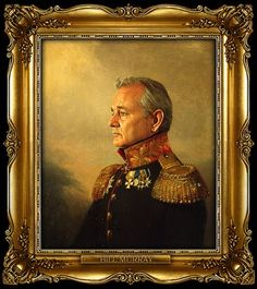 this painting of bill murray will hang above my mantel in my future home
