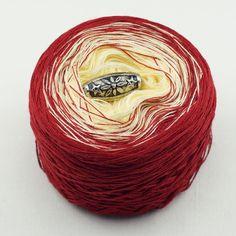 """Farbverlaufsgarn """"Liebe"""" Baumwollmischung zweifarbig – Birgit's Wollmarkt"""