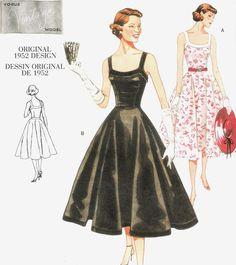 SEWING PATTERN VINTAGE VOGUE 50s FULL CIRCLE SWING DRESS ROCKABILLY ROCK'N'ROLL | eBay