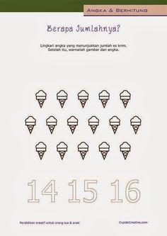 belajar berhitung angka 1-20 untuk paud (balita/TK) sambil mewarnai es krim
