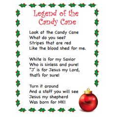 Candy cane poems for christmas tag that has a sweet little poem