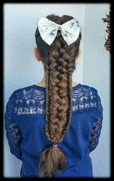 Combined french and fishtail braids