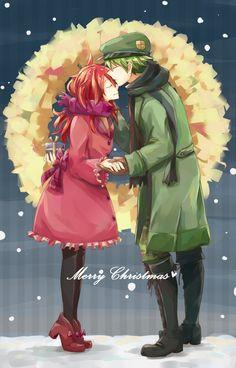 Merry Christmas Flaky and Flippy from zerochan/Happy Tree Friends/#1373963
