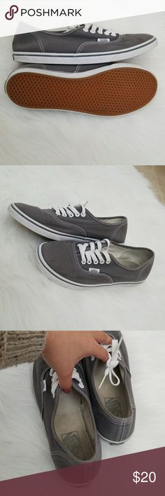 Vans shoes size 8 Good used condition Van's shoes thus has been washed but sole discoloration from black socks didn't come off Slight wear please see pictures  No smell  Size 8women or 6.5 men vans Shoes Sneakers