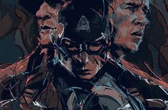 Alternative movie poster for Captain America: The Winter Soldier by Andrew Thompson