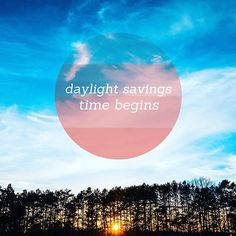 #DaylightSavingsTime begins tomorrow. Try to get to bed a little earlier tonight to make waking up on Monday less of an ordeal!