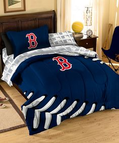 Take a look at this Boston Red Sox Bedding Set by The Northwest Company on #zulily today!