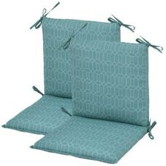 Plantation Patterns Rhodes Trellis Midback Patio Chair Cushion (2-Pack)-7410-02220000 at The Home Depot