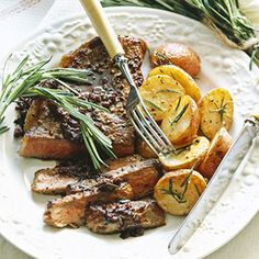 Steak with Rosemary Wine Sauce