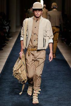 Safari vibes | Balmain Spring 2016 Menswear - Collection - Gallery - Style.com