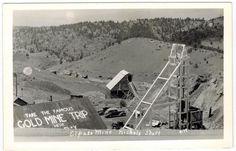 El Paso Mine Nichols Shaft near Cripple Creek Colorado - RPPC Real Photo
